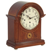 Hermle Clocks Barrister Styled Mechanical Operated Mantel Clock in Mahogany