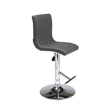 Impacterra Iannucci Adjustable Height Swivel Bar Stool; Gray