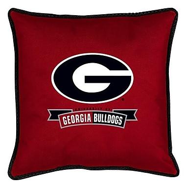 Sports Coverage NCAA Georgia Sidelines Throw Pillow