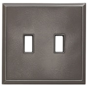 RQ Home Classic Magnetic Double Toggle Wall Plate; Classic Nickel Silver