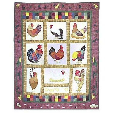Patch Magic Rooster Cotton Throw Quilt