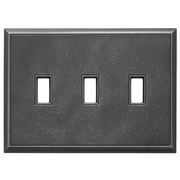 RQ Home Classic Magnetic Triple Toggle Wall Plate; Wrought Iron