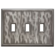 RQ Home Classic Magnetic Triple Toggle Wall Plate; Water Classic Nickel Silver