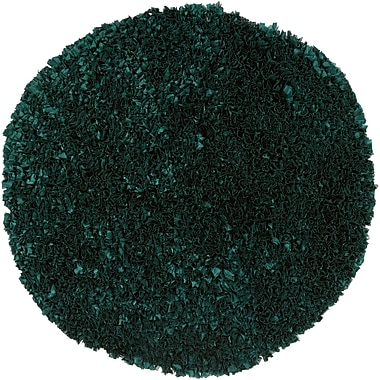 Chandra Proline Green Area Rug; Round 3'