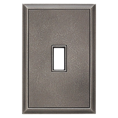 RQ Home Classic Magnetic Single Toggle Wall Plate; Timeworn Steel