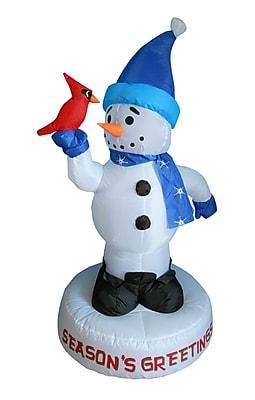 BZB Goods Christmas Inflatable Snowman w/ Bird Decoration