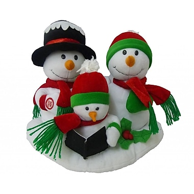 BZB Goods Singing Snowman Family Trio Musical Plush Toy w/ Motion