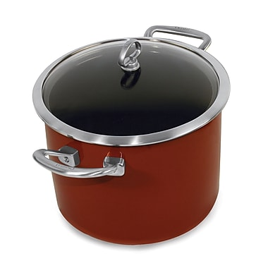 Chantal Copper Fusion 8-qt. Stock Pot w/ Lid; Red