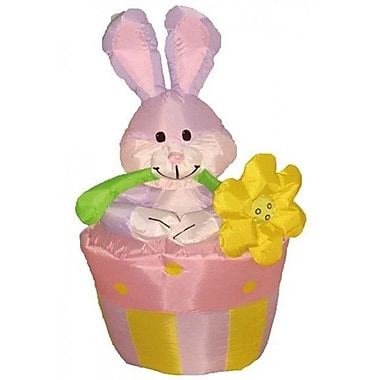 BZB Goods Easter Inflatable Rabbit on Flowerpot Decoration