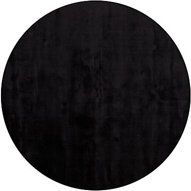 Chandra Gloria Black Area Rug; Round 7'9''