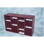 NORSONS INDUSTRIES LLC 36 Compartment Laminate Literature Organizer; Mahogany