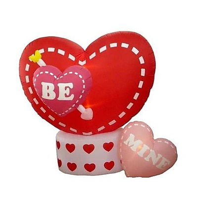 BZB Goods Valentine's Day Inflatable Animated Hearts Decoration; 96''D