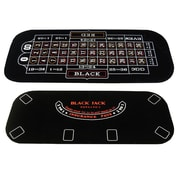 JP Commerce 3 in 1 Poker Blackjack and Roulette Folding Table Top w/ Cup Holders