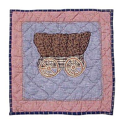 Patch Magic Cowboy Wagon Cotton Throw Pillow