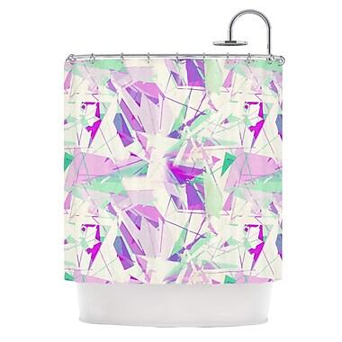 KESS InHouse Shatter Shower Curtain; Purple