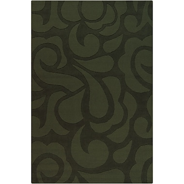 Chandra Ast Green Area Rug; 5' x 7'6''