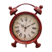 Cheungs Table Clock with Kickstand; Red