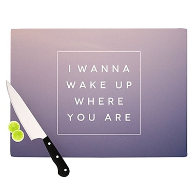 KESS InHouse Wake Up Cutting Board; 11.5'' H x 15.75'' W x 0.25'' D