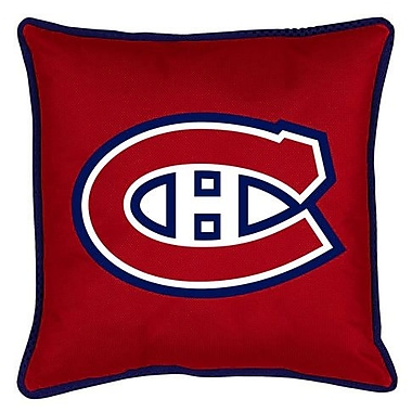 Sports Coverage NHL Montreal Canadiens Sidelines Throw Pillow