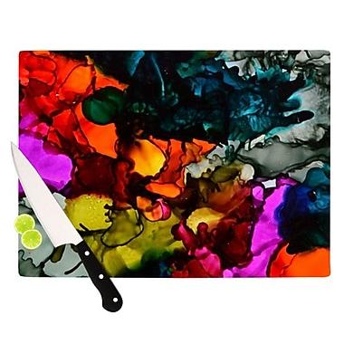 KESS InHouse Hippie Love Child Cutting Board; 11.5'' H x 8.25'' W x 0.25'' D