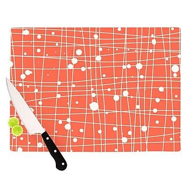 KESS InHouse Woven Web I Cutting Board; 11.5'' H x 8.25'' W x 0.25'' D