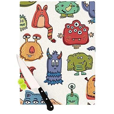 KESS InHouse Little Monsters Cutting Board; 11.5'' H x 15.75'' W x 0.15'' D