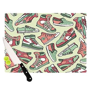KESS InHouse Sneaker Lover II Cutting Board; 11.5'' H x 8.25'' W x 0.25'' D