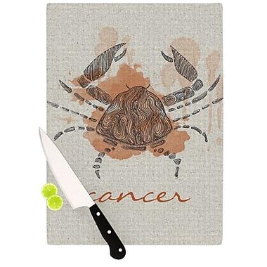 KESS InHouse Cancer Cutting Board; 11.5'' H x 15.75'' W x 0.15'' D