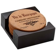 Thirstystone 7 Piece Cabernet Wine Label Cork Coaster Gift Set