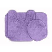 Garland Rug Glamour 3 Piece Bath Rug Set; Purple