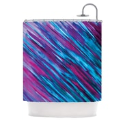 KESS InHouse Shower Curtain; Purple