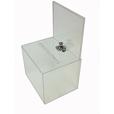 Buddy Products® Large Acrylic Locking Collection Box, Clear