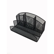 Buddy Products® 5 Compartment Mesh Desk Organizer, Black