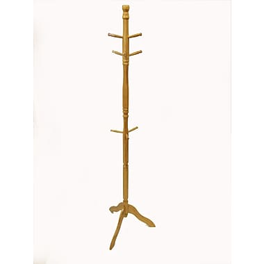 Buddy Products® 9 Hook Bamboo Hat and Coat Rack, Natural