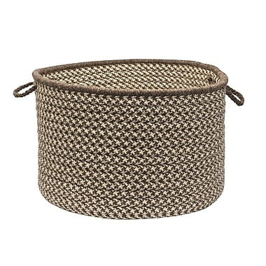Colonial Mills Natural Wool Houndstooth Storage Basket; Espresso