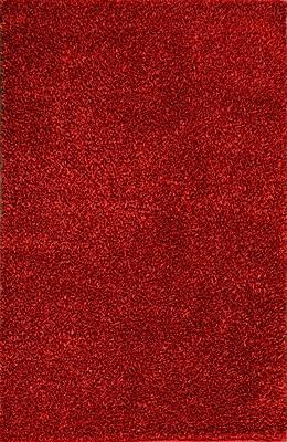 MOTI Rugs Royal Shag Red Rug; 5' x 7'7''
