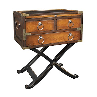 Authentic Models Bombay Box End Table; Distressed Honey
