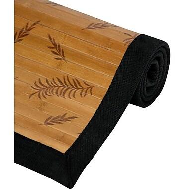 Oriental Furniture Little Leaf Bamboo Rug; 4' x 6'