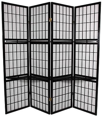 Oriental Furniture 70.75'' x 69'' Window Pane 4 Panel Room Divider