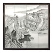Oriental Furniture 72'' x 72'' Misty Mountain 4 Panel Room Divider