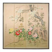 Oriental Furniture 72'' x 72'' Harmony in Nature 4 Panel Room Divider