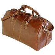 Tony Perotti Verona 21.26'' Italian Leather Weekender Duffel; Brown