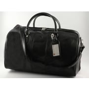 Tony Perotti Verona 21.26'' Italian Leather Weekender Duffel; Black