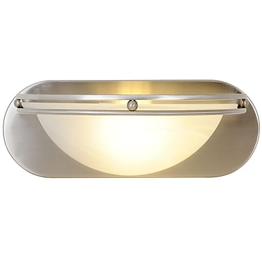 Monument Contemporary 1-Light Bath Sconce; 100W Medium Base