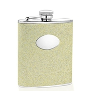 Wilouby 6 Oz. Glitter Flask; Gold