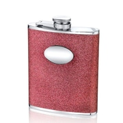 Wilouby 6 Oz. Glitter Flask; Hot Pink