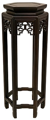 Oriental Furniture Plant Stand; 28''