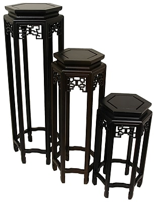 Oriental Furniture Plant Stand (Set of 3)
