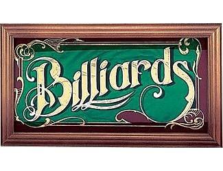 Cuestix CueStix Novelty Items Mirrored Billiard Sign Framed Textual Art