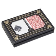 Cuestix Poker COPAG Plastic Card Deck Set; Blue_Red